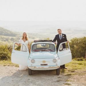 bridal car fiat 500