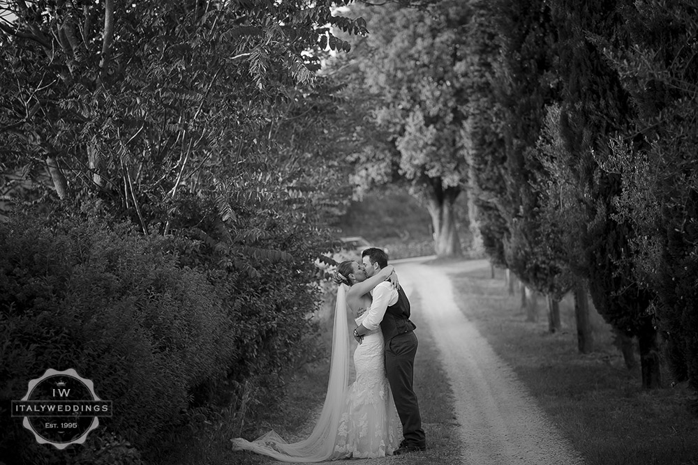 Ashleigh and Tyler, Villa driveway