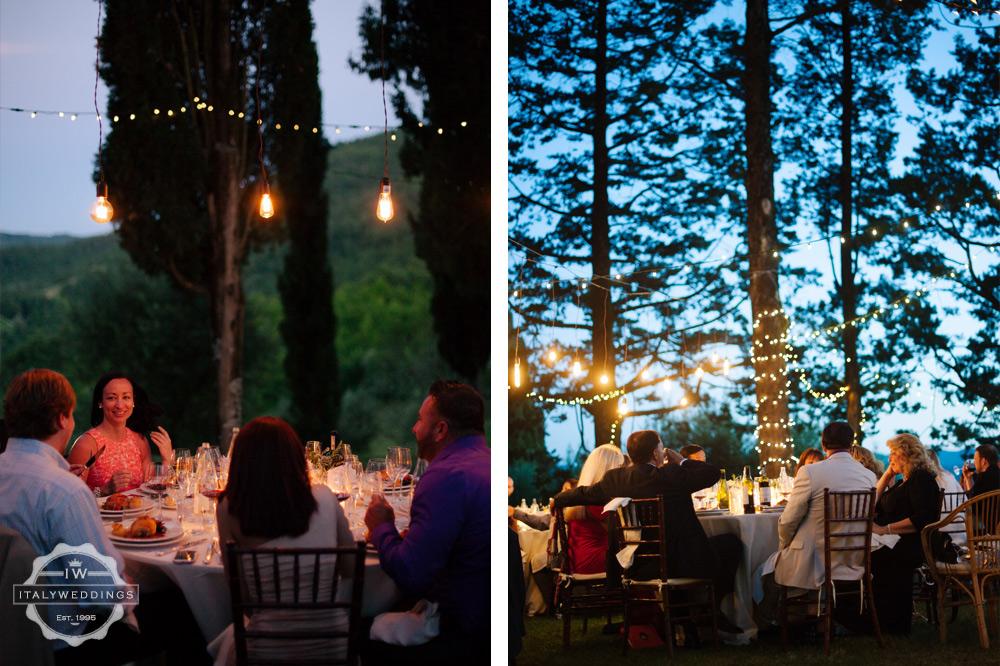 evening wedding lights edison