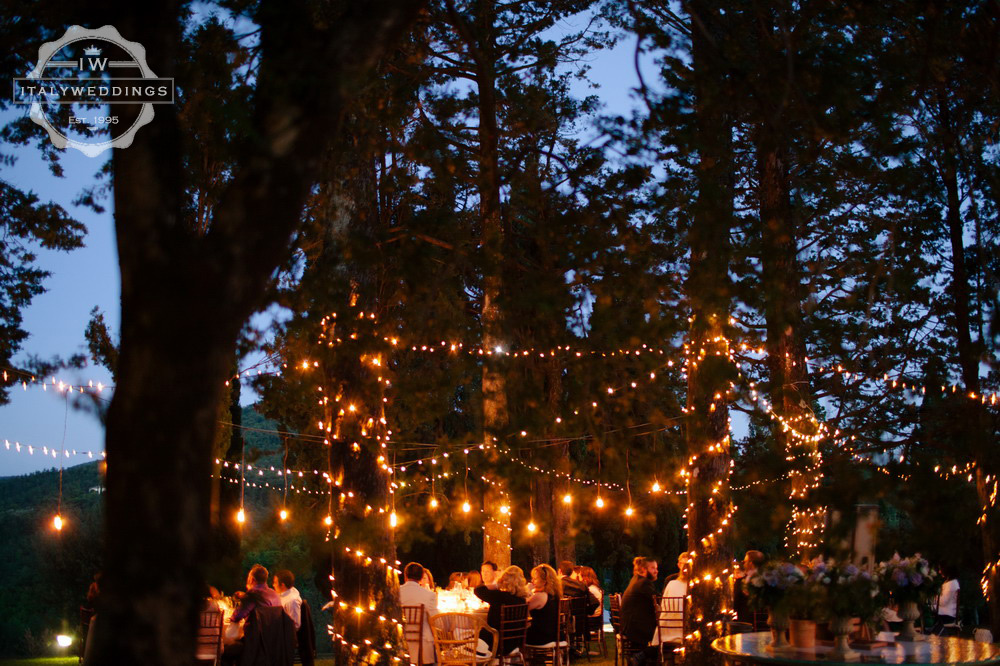 evening wedding lights edison