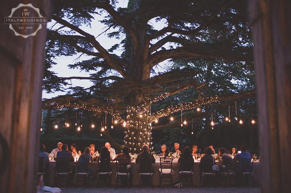 Carmen and Travis evening meal cedar tree