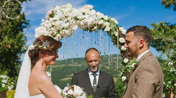 wedding arch roses