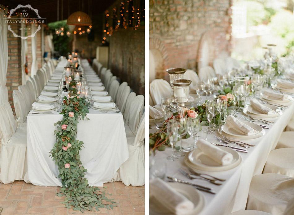 Ciara and Mark table floral wreath