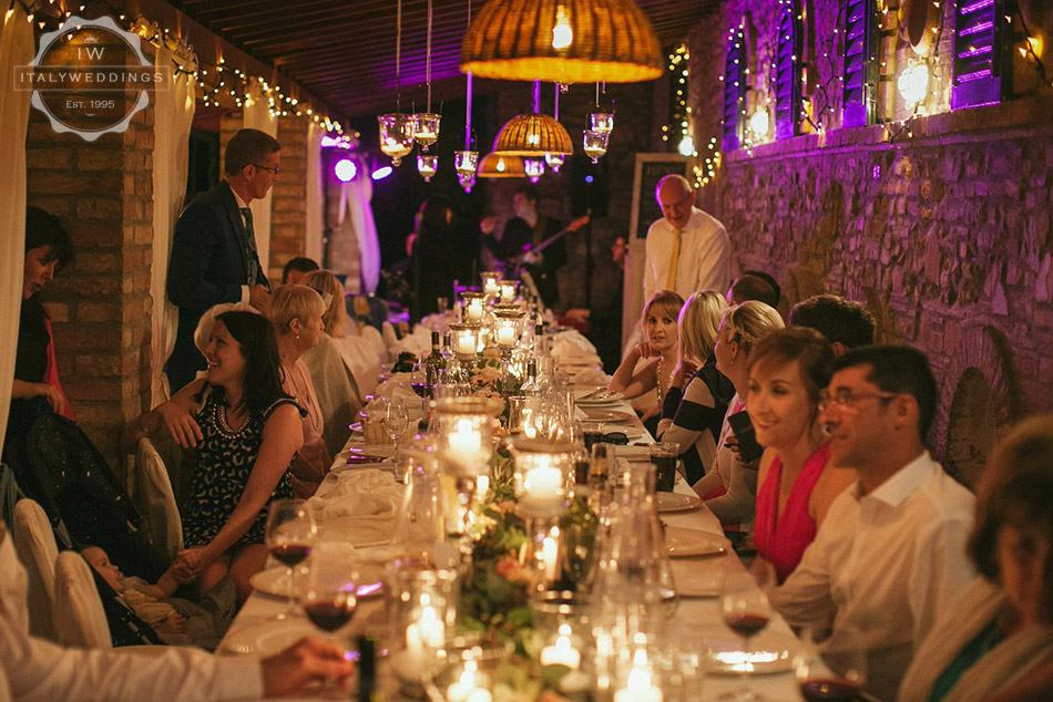 Ciara and Mark wedding meal