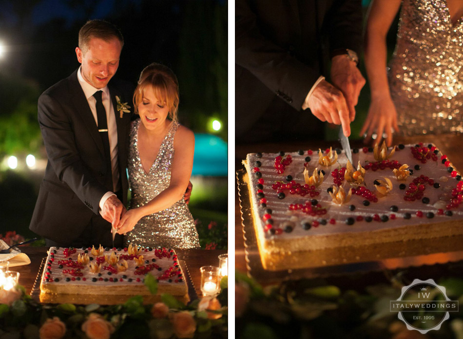 Ciara and Mark millefoglie cake