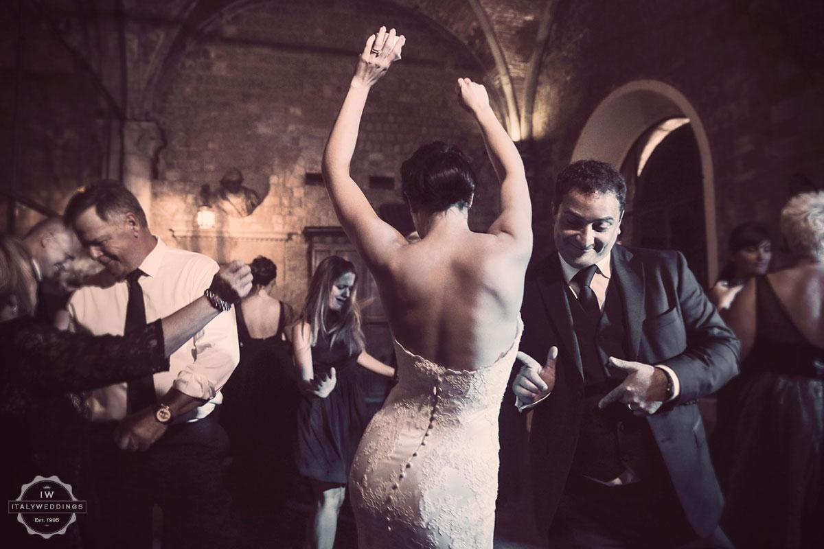 castle wedding evening dancing