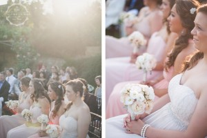 bridesmaids bouquets pink and white