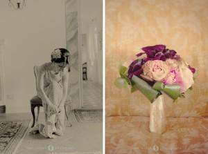 deep calla bouquet