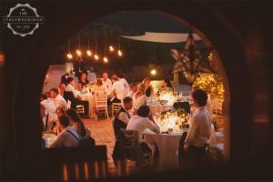 Hannah and Daniel villa terrace meal
