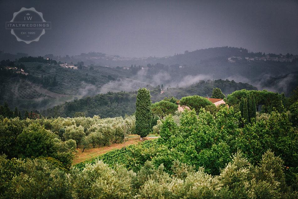 Hiba and David, Tuscan hills
