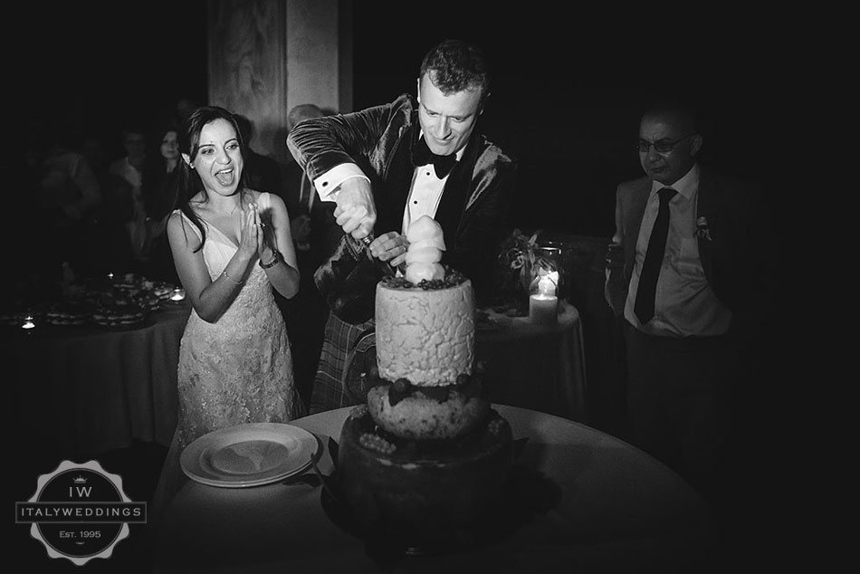 Hiba and David, cheese wedding cake