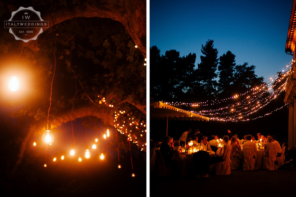 Ingrid and Anders, fairy lights