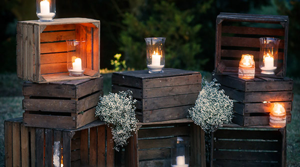 Country chic lighting boxes