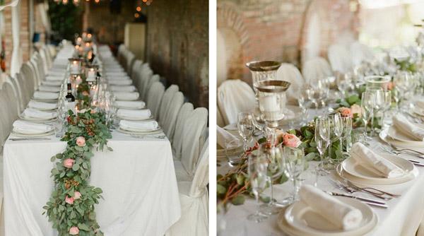 wedding table wreath