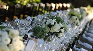 wedding country chic tables