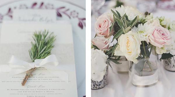 rosemary wedding table