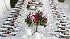 silver wedding table