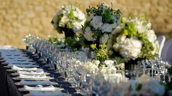 long rustic wedding table