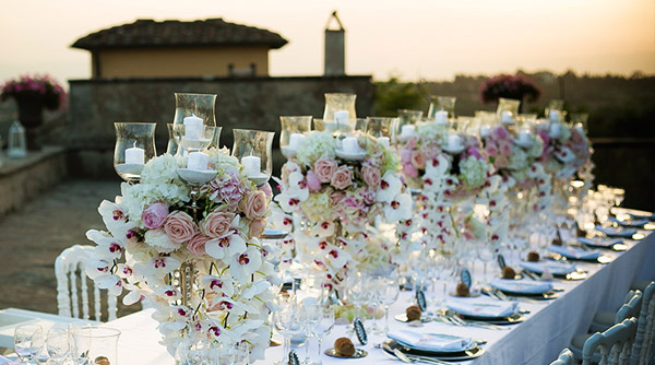 Orchid wedding table