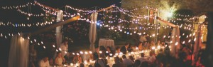 wedding terrace lighting