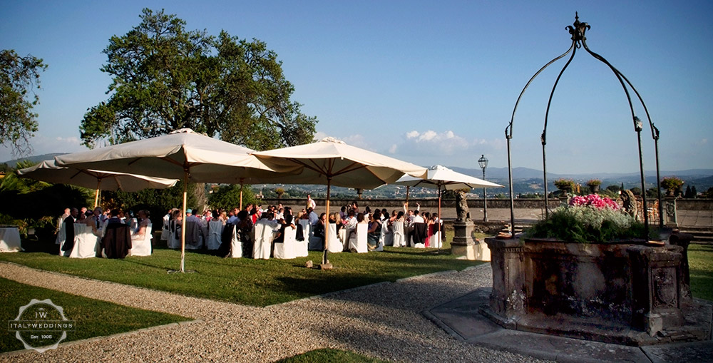 Formal Florence wedding villa