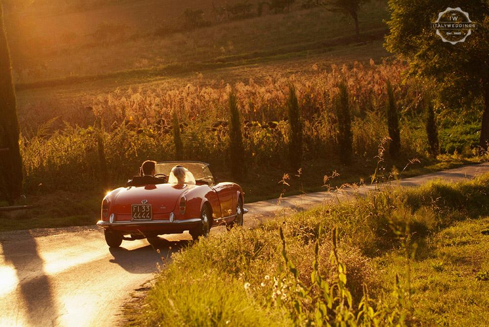 Bridal car Alfa Romeo giulietta