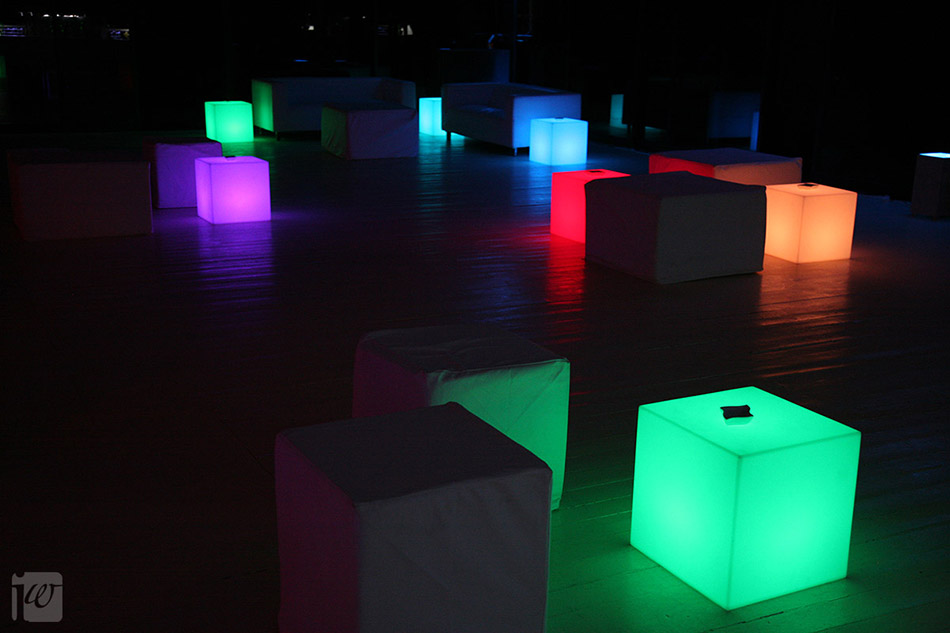 illuminated bar furniture