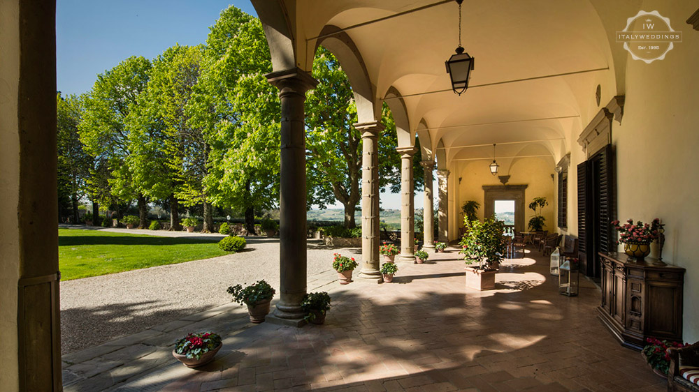 Florence wedding villa portico