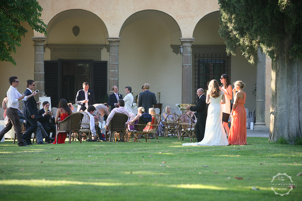 Florence wedding villa arches portico