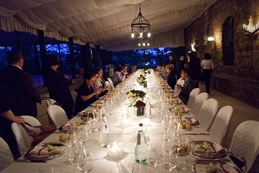 Vincigliata wedding Florence long table