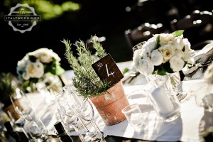 long country chic tables wedding flower pots
