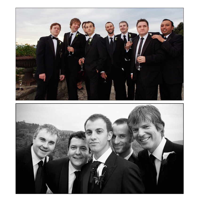 Florence wedding villa groomsmen