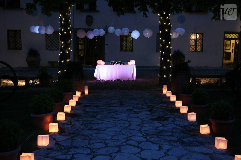paper lantern wedding decoration