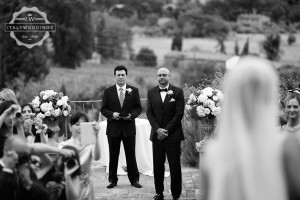 Cortona wedding first look