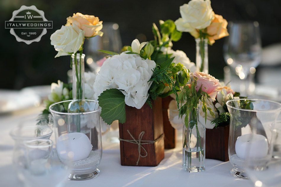 wooden centerpiece