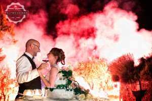 wedding fireworks tuscany