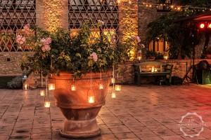 hanging candles stone vase