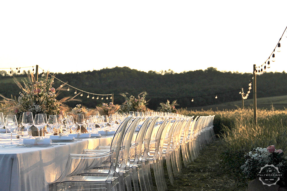Cornfield wedding