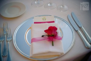 mise en place silver and pink