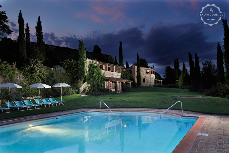 Tuscany wedding venue converted village