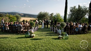 Tuscany wedding venue converted village blessing