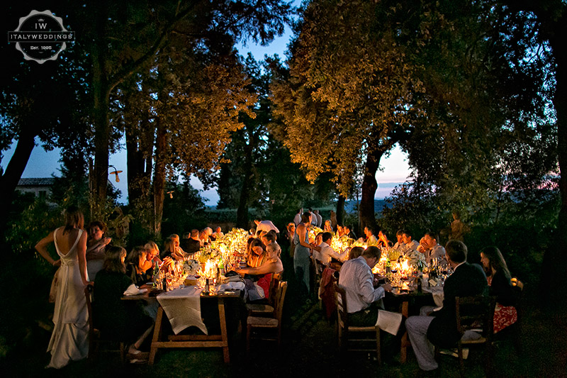 Tuscany wedding venue converted village