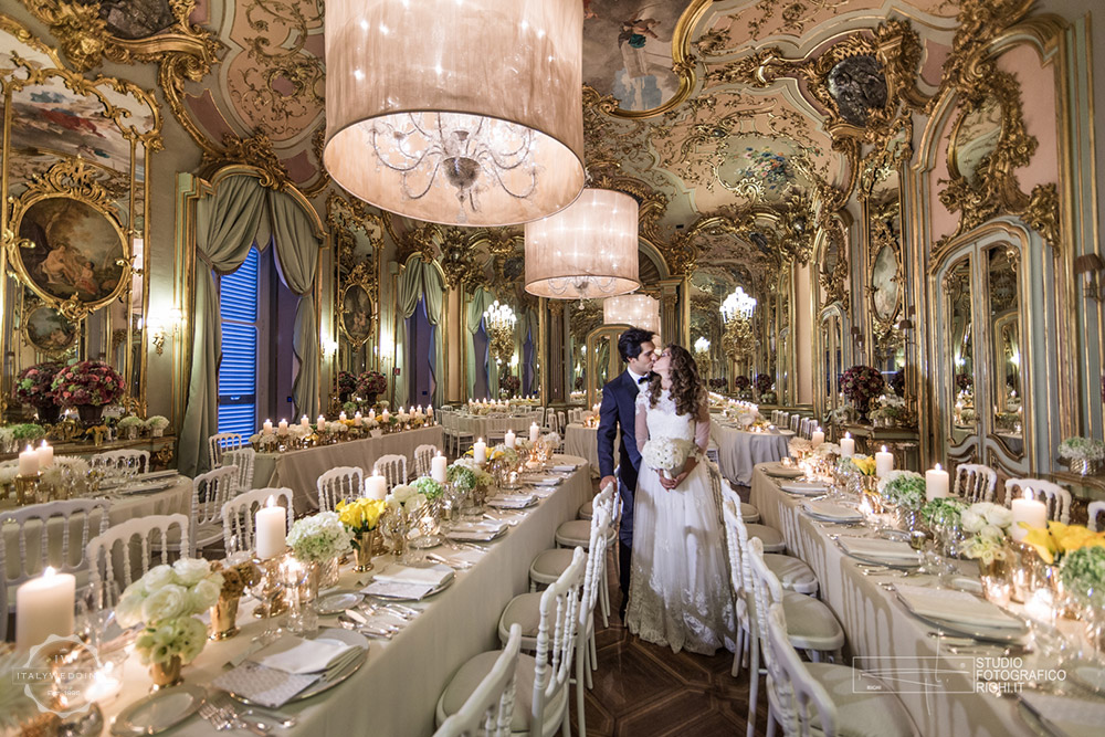 Wedding venue villa Cora Florence mirror hall