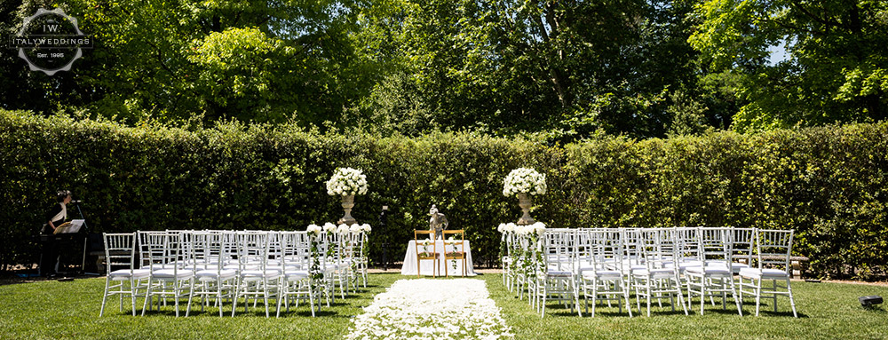 Wedding venue villa Cora Florence blessing