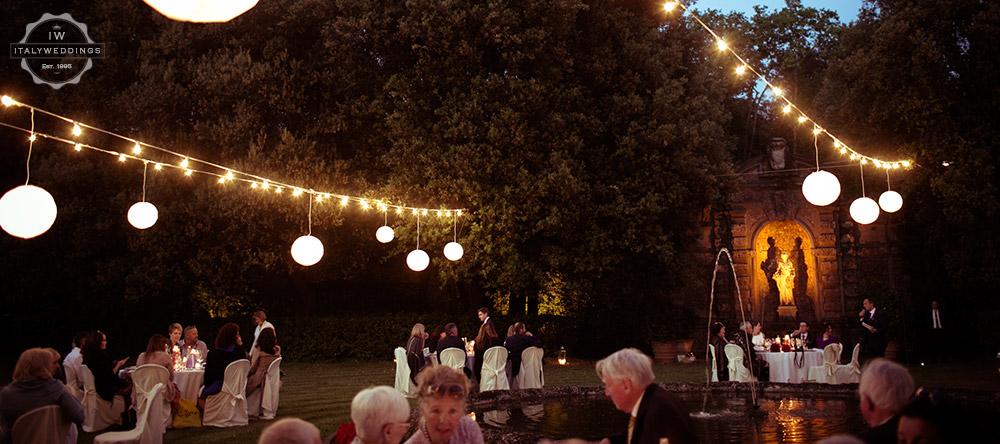 villa weddings paper lanterns
