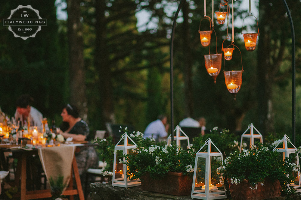 Umbria wedding lighting