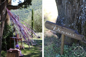 Umbria wedding signage