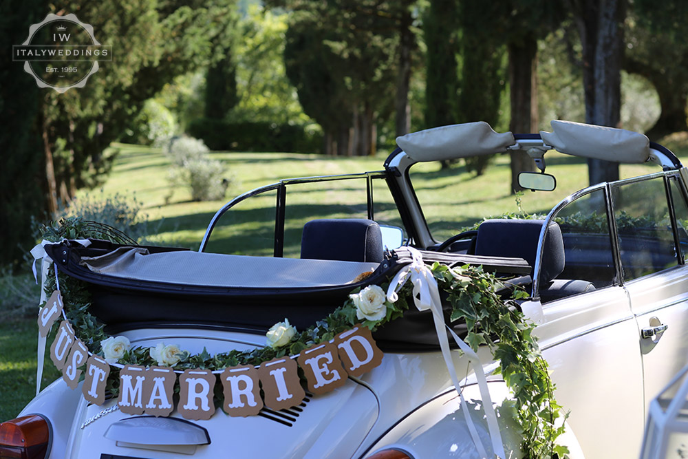Umbria wedding car