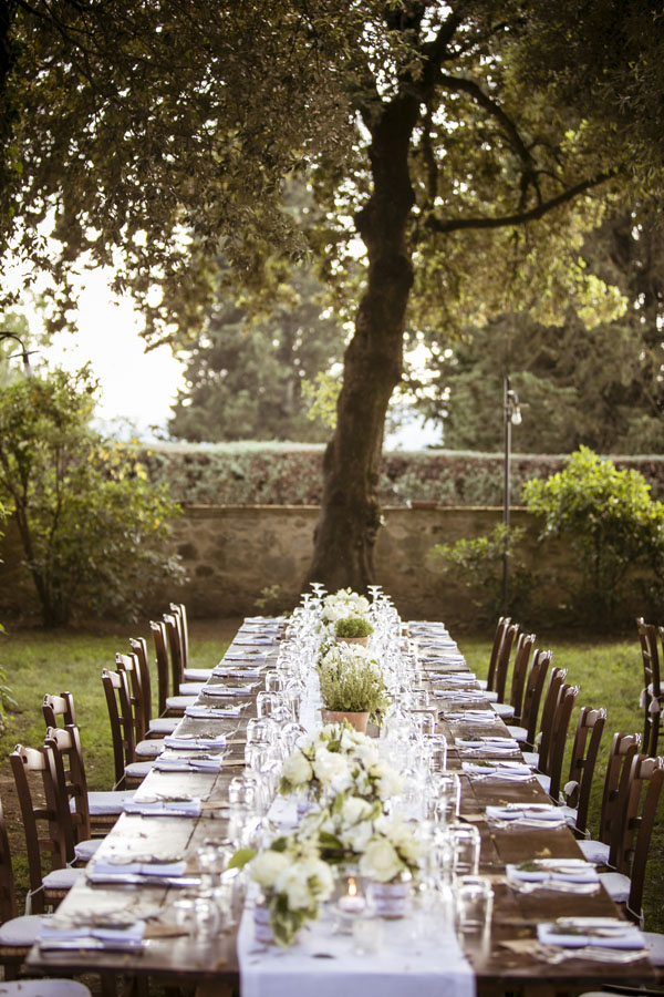 blessing in Tuscany country reception