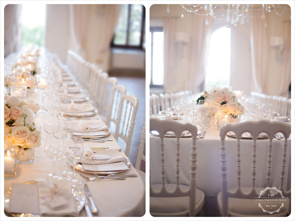 white long wedding table